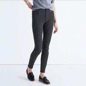 Madewell 9″ High-Rise Skinny Jeans Railroad Stripe